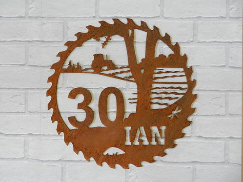 Personalised Any Age Rustic Wall Decor