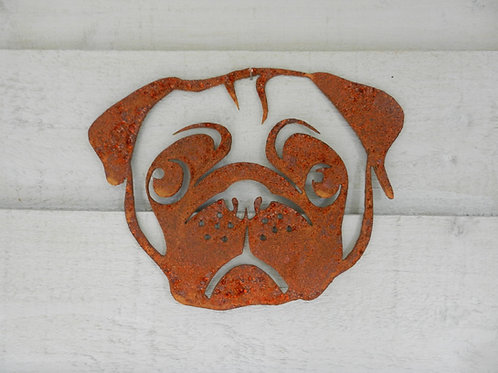 Rusty Metal Pug Head