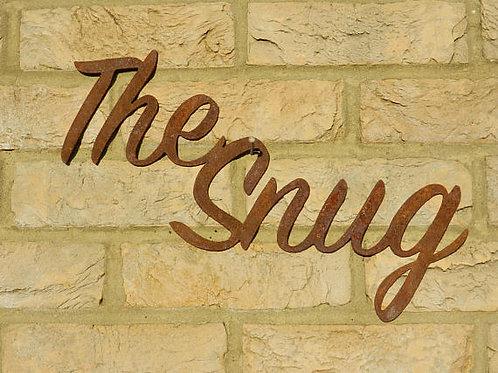 Rustic Metal The Snug Sign