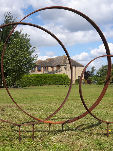 Three Ring Garden Sculpture