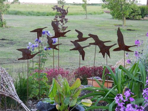 Rusty Metal Flying Geese Garden Art | rustyrooster