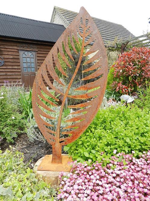 Rusty Metal Leaf Sculpture