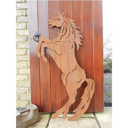 Rusty Metal Horse Sculpture