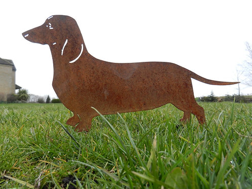 Rusty Metal Dachshund ( Sausage Dog)