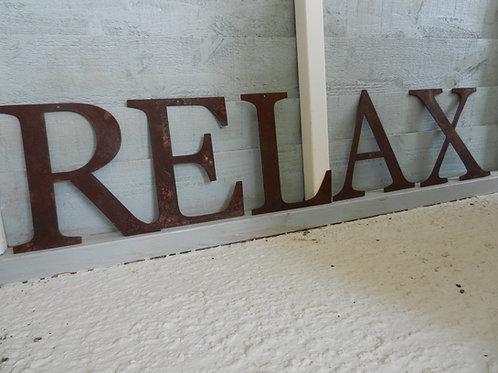 Rustic Metal Letters - RELAX Garden Decor
