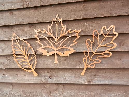 Rusty Metal Leaf Wall Decor (3)