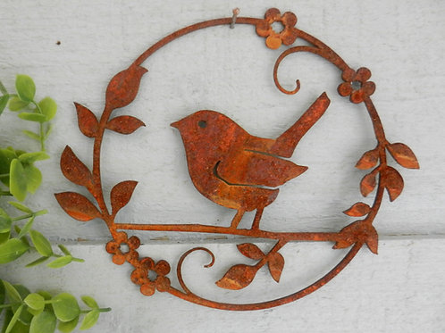 Rusty Wren Wall Decor