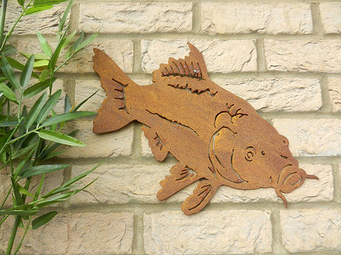 Rusty Metal Carp Fish Wall Art