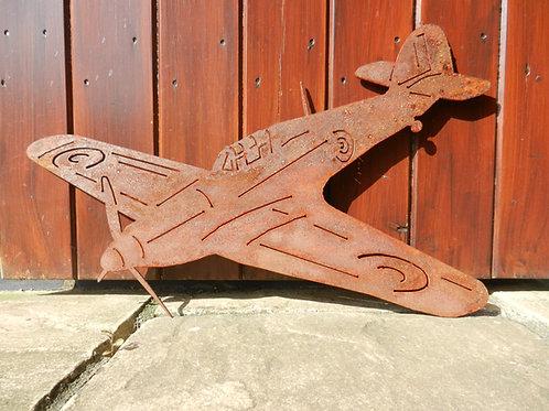 RAF Hurricane WW2 plane Rusty Metal Wall Art
