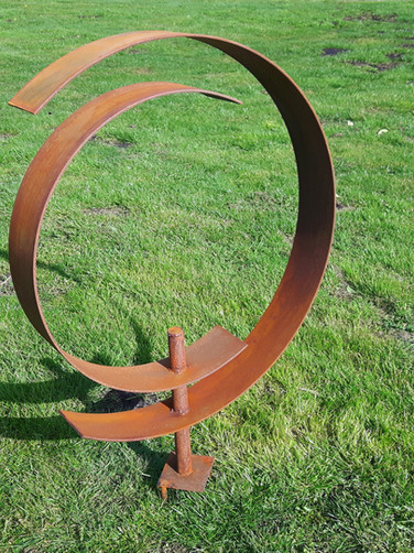 Ringed Garden Sculpture
