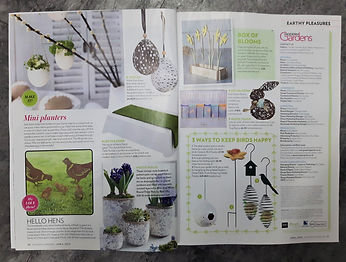 Rusty Rooster Hens featured in Modern Gardens Magazine