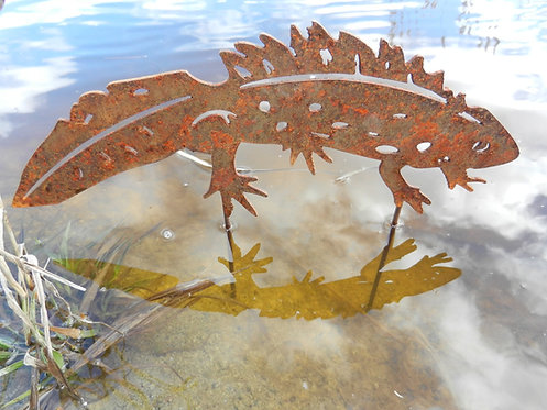 Rusty Metal Great Crested Newt