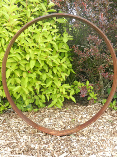 Rusty Metal Ring Sculpture