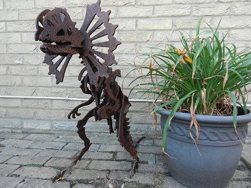 Large (65cm) 3D Dinosaur Sculpture - Dilophosaurus