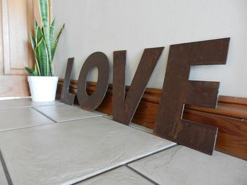 Rustic Metal Letters - LOVE Garden Decor