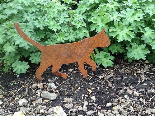Rusty Metal Walking Cat