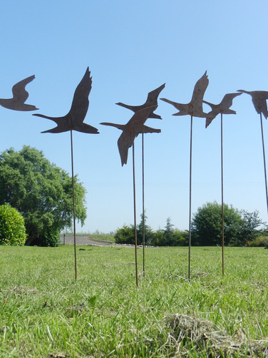 Flying Geese / Flying Swans Sculpture