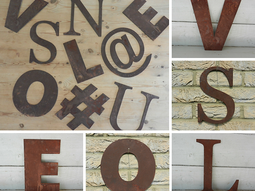 Rusty Metal Letters - Make you own Sign