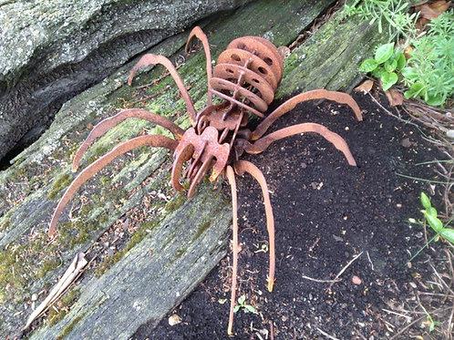 Rusty Metal 3D Spider Sculpture