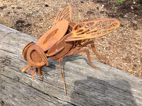 Rusty Metal 3D Fly Sculpture
