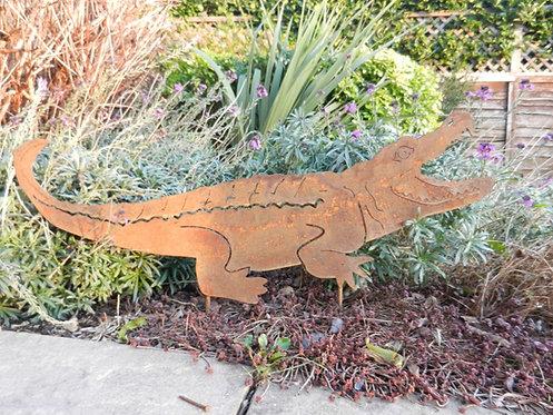 Rusty Metal Crocodile