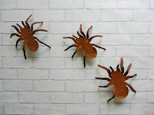 Rusty Metal Spider Set of 3