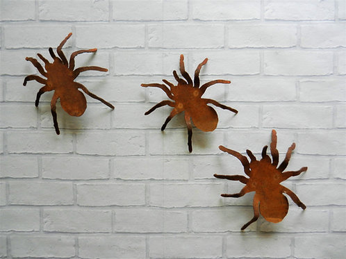 Rusty Metal Spider Set of 3