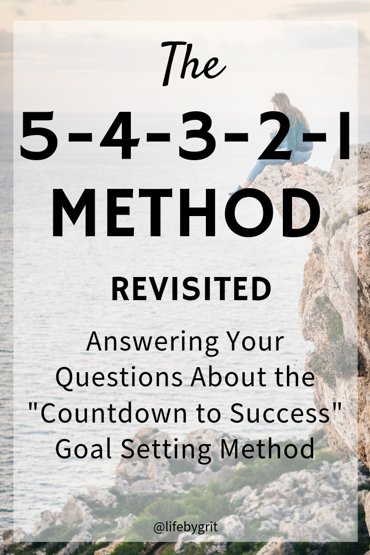 "The 5-4-3-2-1 Method revisited. Answering your questions about the ""countdown to success"" goal setting method"