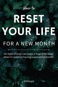 How to reset your life for a new month. An hour of prep can make a huge difference when it comes to having a successful month!