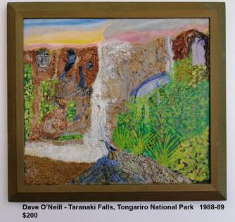 Dave O'Neill - Taranaki Falls, Tongariro National Park   1988-89  $200