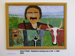 Dave O'Neill - Shepherd coming over a Hill   c.1985  $500