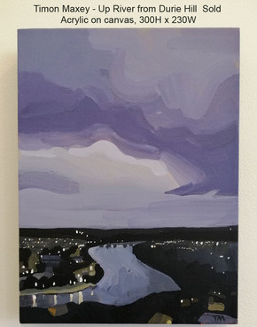 Timon Maxey - Up River from Durie Hill $Sold
