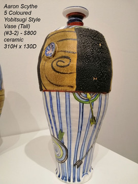 Aaron Scythe - 5 Coloured Yobitsugi Style Vase (Tall) (#3-2) - $800