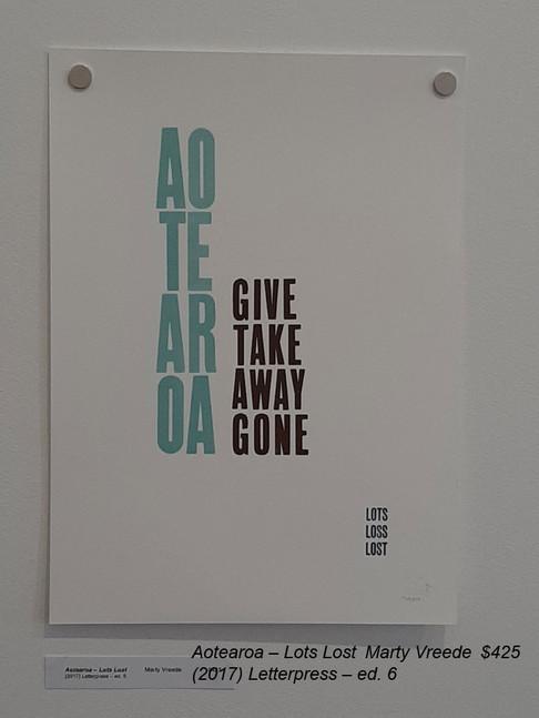 Aotearoa – Lots LostMarty Vreede$425