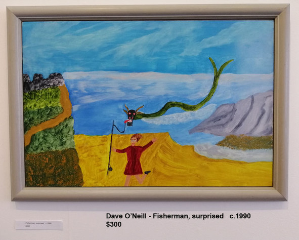 Dave O'Neill - Fisherman, surprised   c.1990  $300