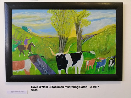 Dave O'Neill - Stockman mustering Cattle    c.1987  $400