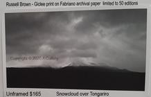 Russell Brown - Snowcloud over Tongariro  $165