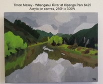 Timon Maxey - Whanganui River at Hipango Park $425