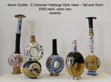 Aaron Scythe - 5 Coloured Yobitsugi Style Vases -Tall & Short (#4-1,2,3,4,5) - $300 each