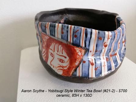 Aaron Scythe - Yobitsugi Style Winter Tea Bowl (#21-2) - $700
