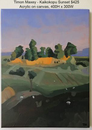 Timon Maxey - Kaikokopu Sunset $425