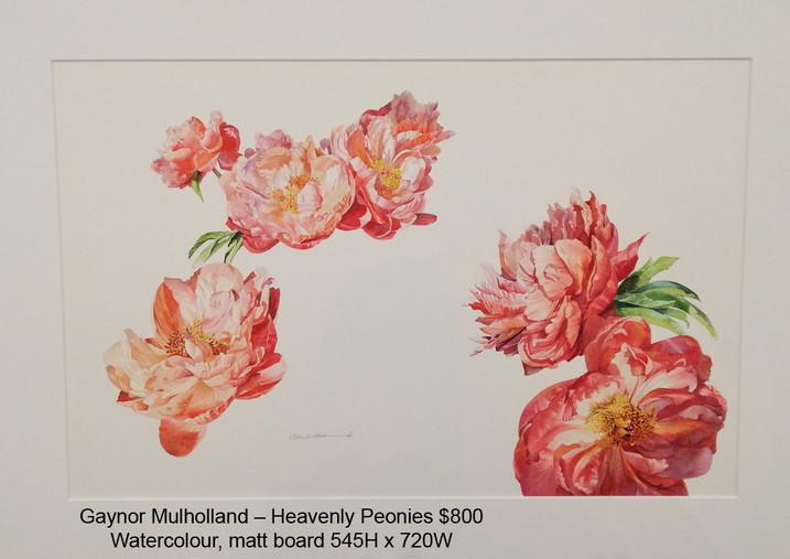 Gaynor Mulholland – Heavenly Peonies $800