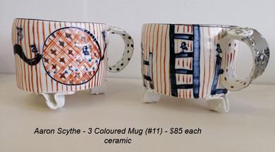 Aaron Scythe - 3 Coloured Mug (#11) - $85 each