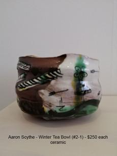 Aaron Scythe - Winter Tea Bowl (#2-1) - $250 each