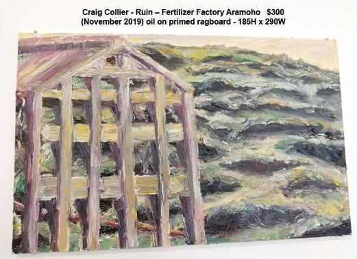 Craig Collier - Ruin – Fertilizer Factory Aramoho   $300