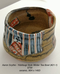 Aaron Scythe - Yobitsugi Style Winter Tea Bowl (#21-1) - $700