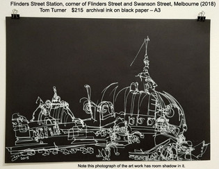 Flinders Street Station, corner of Flinders Street and Swanson Street, Melbourne (2018) - Tom Turner $215