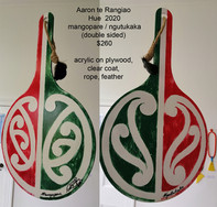 Aaron te Rangiao - Hue  2020, mangopare / ngutukaka (double sided) - $260