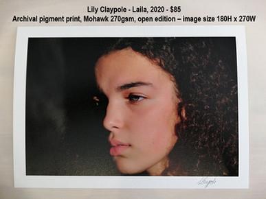 Lily Claypole - Laila, 2020 - $85