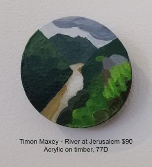Timon Maxey - River at Jerusalem $90